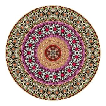 Цветочная мандала для раскраски