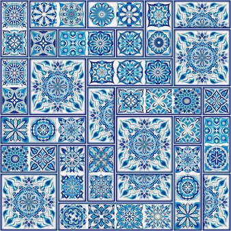 華やかな花のシームレスなテクスチャ、ヴィンテージのマンダラの要素を持つ無限のパターン。