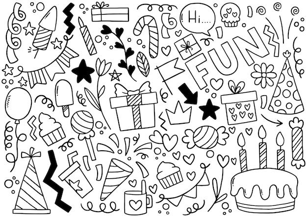 手描きパーティー落書きお誕生日おめでとう