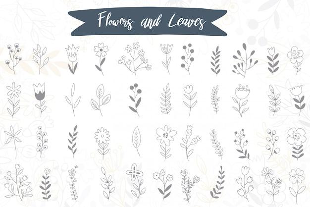 Каракули рисованной цветы