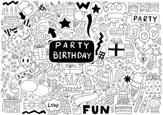誕生日パーティーの落書き