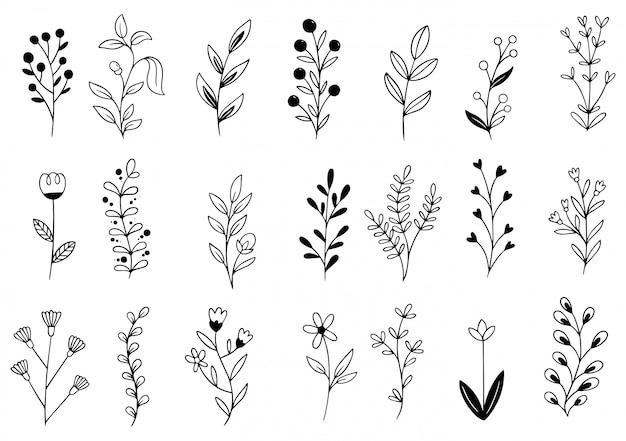 Рисованной цветы