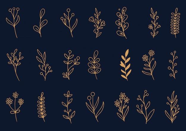 Рисованной цветы каракули
