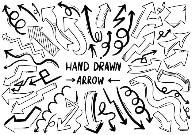 手描きの矢印