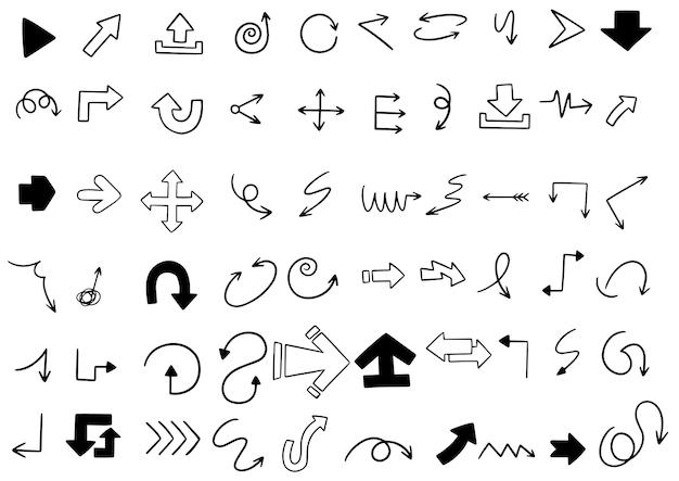 手描き落書き矢印セット