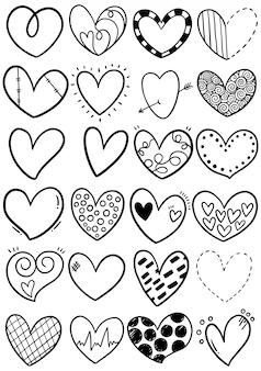 手描き落書きの心