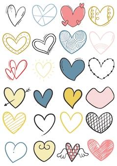Рисованной каракули сердца
