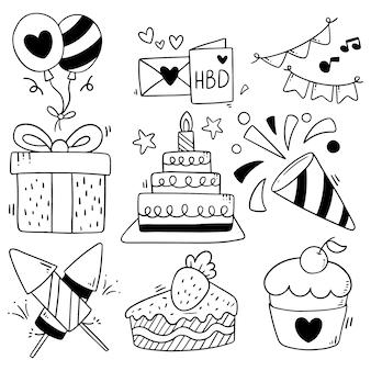 手描きパーティ落書きお誕生日おめでとう