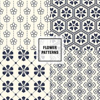 Коллекция цветочные узоры