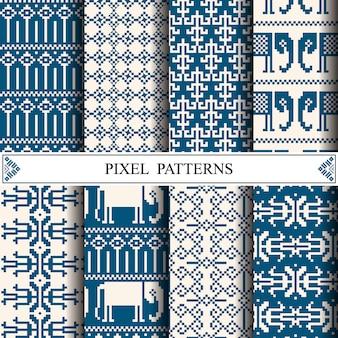 タイのピクセルパターン