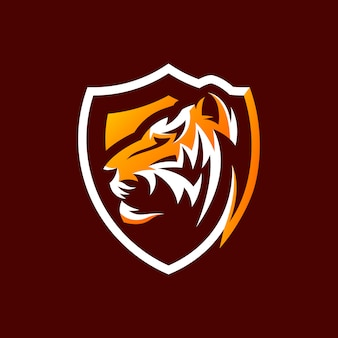 タイガーのロゴデザインを使用する準備ができて