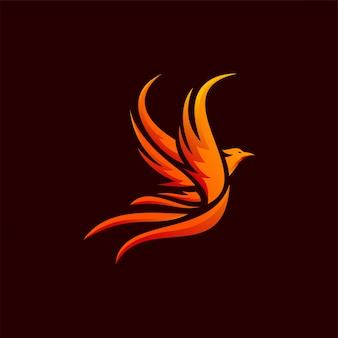 Дизайн логотипа феникс