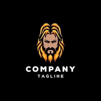 Борода дизайн логотипа