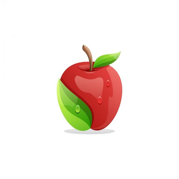 素晴らしい新鮮なリンゴのロゴ