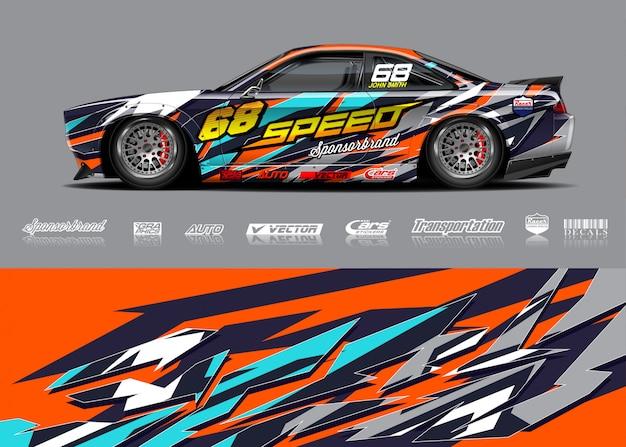 Иллюстрация ливрея гоночного автомобиля
