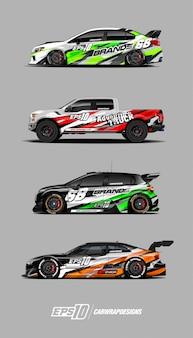 レースカーデカールセットデザイン