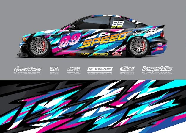 Иллюстрация ливреи гоночной машины
