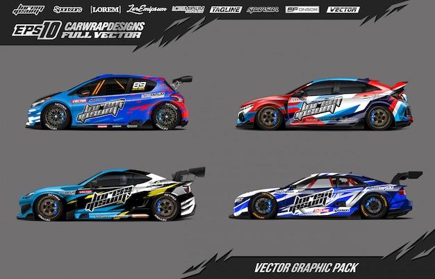 Набор наклеек для гоночных автомобилей