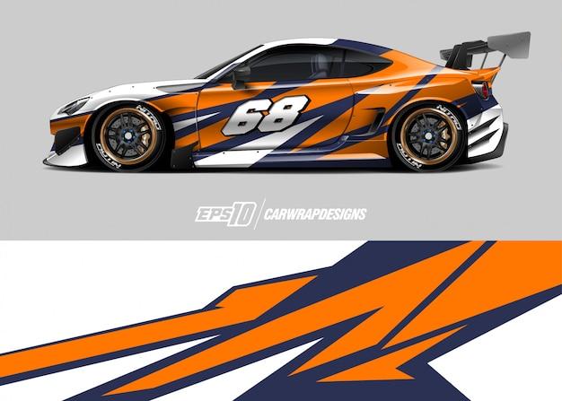 レースカーの模様デザイン