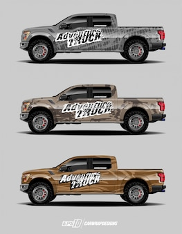 Набор графических изображений грузовых автомобилей
