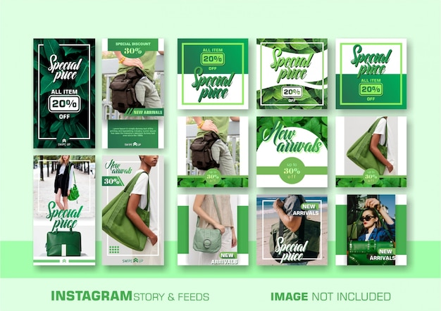 Зеленый баннер продаж