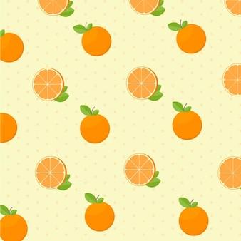 カーリー描かれたオレンジ色のパターン
