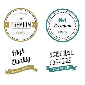 プレミアム品質のラベル