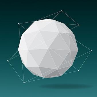 ポリゴン球体デザイン