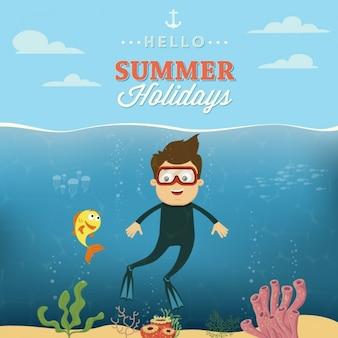 カラフルな夏のデザイン