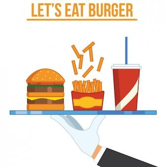 不健康な食品の背景デザイン