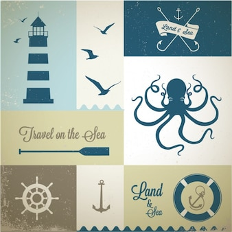 Морских наклеек
