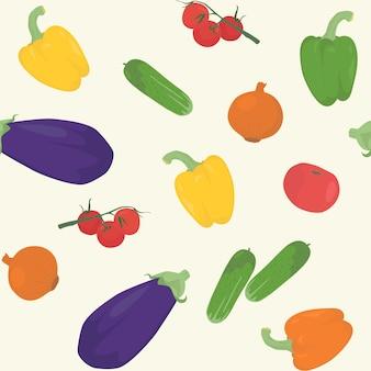 野菜とのシームレスなパターン