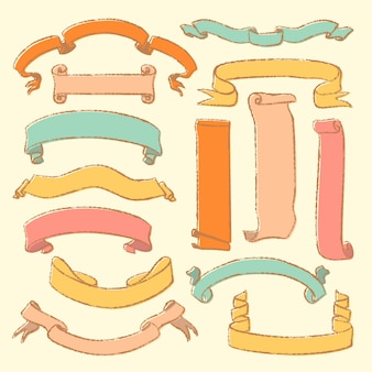 ヴィンテージ手描きコレクションの巻物