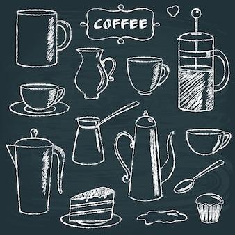 黒板コーヒーアイテムのセット