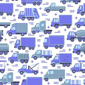 交通機関のシームレスパターン