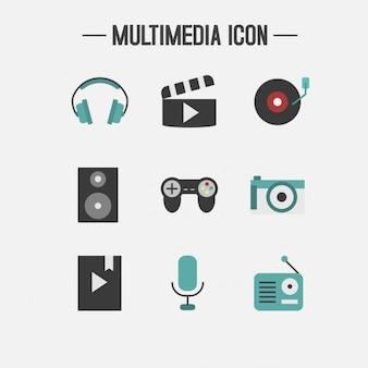 マルチメディアのアイコンコレクション