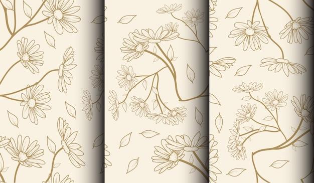 花のテンプレートのセット