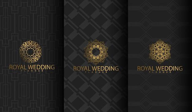 Набор роскошного логотипа