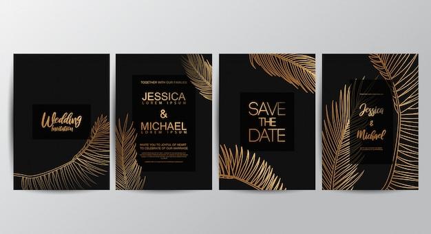 高級贅沢な結婚式の招待状