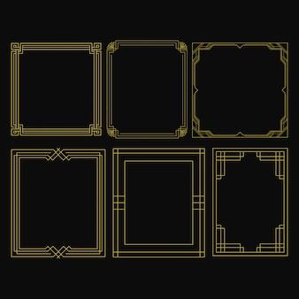 Набор золотая рамка люкс