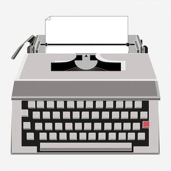 Цветное дизайн пишущей машинки