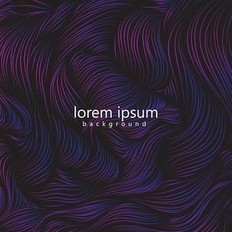 紫色の波との抽象的な背景
