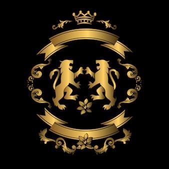 Дизайн золота и черного фона
