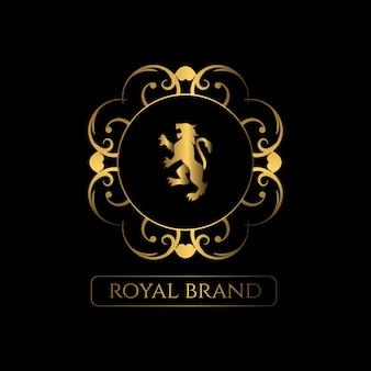 豪華な装飾ロゴ