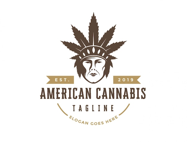 Американский логотип каннабиса
