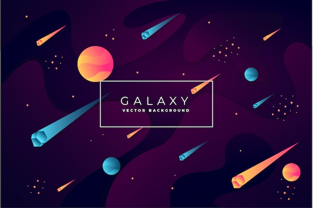 抽象的な銀河背景ベクトル