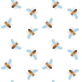 Пчела вектор бесшовные модели