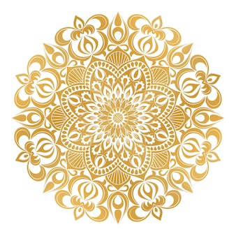 Бежевый орнамент мандалы