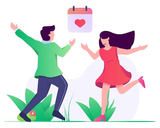 Время встречи пары на сегодняшний день иллюстрации