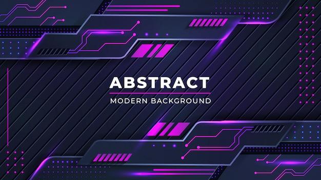 Современный абстрактный фон с комбинацией светящихся розовых точек линий